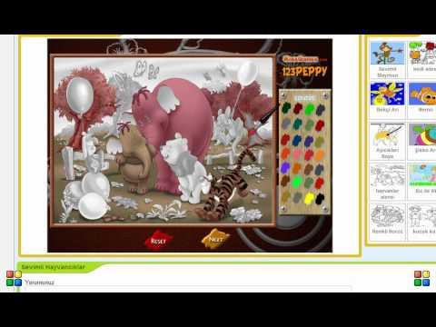 Sevimli Hayvancıklar - boyama oyunu