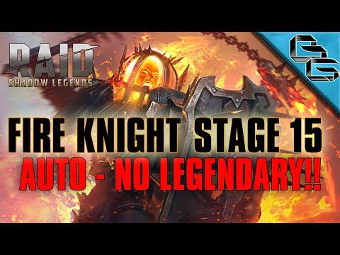 RAID: Shadow Legends | Fire Knight's Castle Stage 15 on Auto | NO LEGENDARY!! | F2P