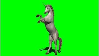 Green Screen Unicorn