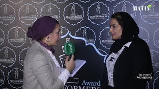 Transformers Awards by Trusted Advisors : Déclaration de Maissa Shunnar, head of business planning & transformation BisB-Bahrein