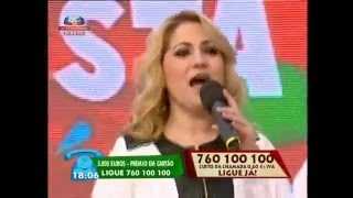 """Cantora ELENA CORREIA """"Dá-me um beijo"""" em Chaves no Portugal em Festa - Contacto para Festas"""
