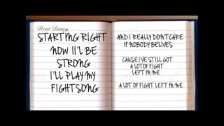 Fight Song - Rachel Platten (LYRICS VIDEO)
