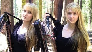 ASLEEP - The Smiths (Harp Twins) Camille and Kennerly HARP ROCK
