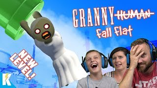 Granny Fall Flat! (Family Multiplayer MESS on Human Fall Flat STEAM) by KIDCITY GAMING