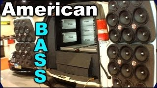 American Bass Demo Van @ SBN 2012 | INTENSE Car Audio System Install w/ AB Subs Amps & Speakers