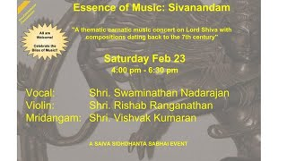 Essence of Music: Sivanandam