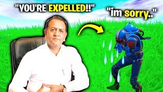 I Pretended To Be His PRINCIPAL In Fortnite