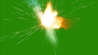 firecracker explode - green screen effect