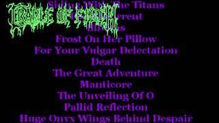 Cradle of Filth New Album Tracklist 2012