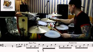 Drum Lesson #4: COOL - EASY  LINEAR DRUM FILL