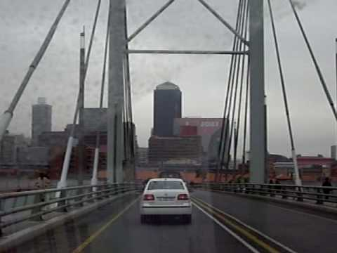 Driving into Newtown in Johannesburg