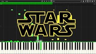 Star Wars Binary Sunset Synthesia Piano Tutorial
