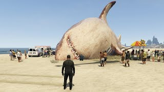 The Biggest Shark in GTA 5 History Found! (Megalodon Shark Attack)