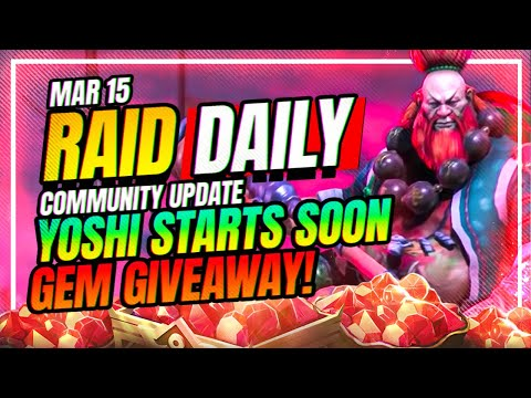YOSHI TOMORROW?! GEM GIVEAWAY! | RAID Shadow Legends