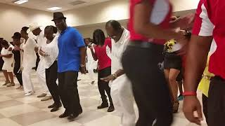 The Line Dance Connection / collard greens and cornbread