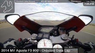 2014 MV Agusta F3 800 Onboard - 2014 L-H Shootout Lap - MotoUSA