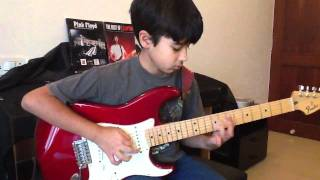 Eleven year old playing Pink Floyd Comfortably Numb solo