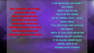 Mi gna - Lyrics + English Lyrics || أغنية ميجنا  مترجمة للإنجليزية