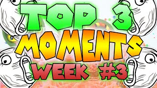 Agar.io - TOP 3 Moments of the WEEK! #3 (Submit your own moments)