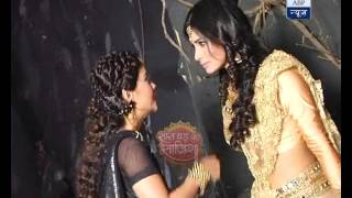 Naagin: Sisters Shesha and Shivanya get into a fight width=