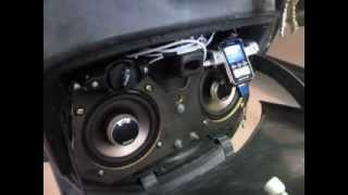 Moped super stereo system demo