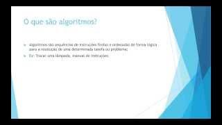 Introdução - Algoritmos