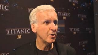 Titanic LIVE World Premiere - James Cameron reaction (2015)