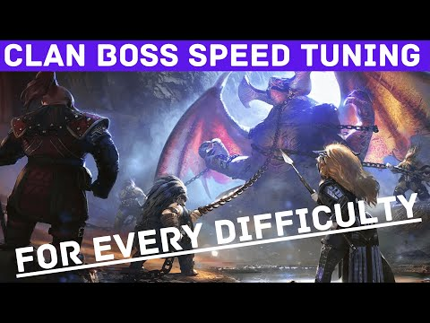 Complete Guide and List of Clan Boss Speed Tuning I Raid Shadow Legends