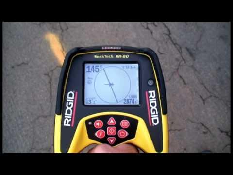 RIDGID SR-60 Hat (Kablo/Boru) Tespit Dedektörü ile Hat Tespit İşlemi