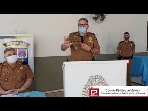 Coronel Péricles visita 2ª CIA da Polícia Militar de Goioerê e destaca dedicação de policiais