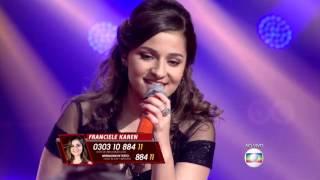 Franciele Karen canta 'Clarity' no The Voice Brasil - Shows ao Vivo | 4ª Temporada