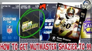 8198a75f0f6 How to get MUTMASTER Ryan Shazier to 99 OVR FAST! Best Strategy in MUT 19