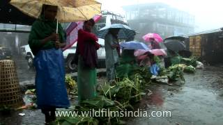 Its business as usual in Cherrapunji even under the rain!