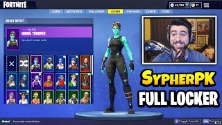 SypherPK Shows HIS RARE SKINS, GLIDERS AND PICKAXES  - Ghoul Trooper, Recon Expert & Full locker!