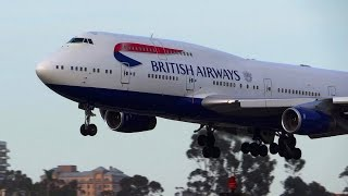 *Inaugural Flight* British Airways 747-400 Landing San Diego