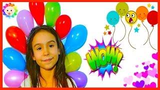 BABY TV Little BABY FINGER Family Sticky Balloons SONG 🎈 Rainbow Babytv Educational Video