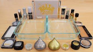 Platinum vs Gold  - Mixing Makeup Eyeshadow Into Slime ASMR 251 Satisfying Slime Video