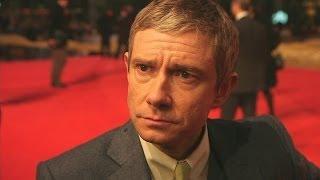 Martin Freeman at Hobbit premiere: Hilarious interview covers Benedict Cumberbatch's drinking