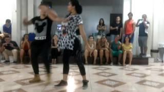 Dj kakah e Luanna Rodrigues - demo da aula de zouk, musicalidade (Uh Lalá)