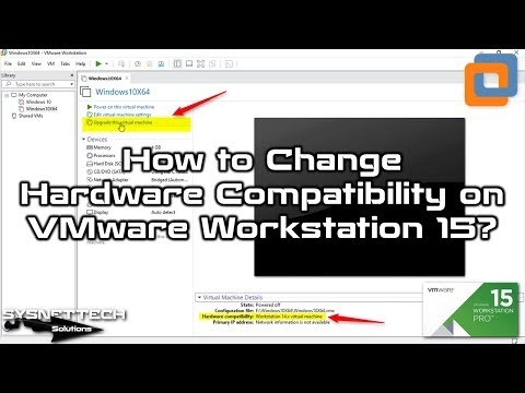 VMware 15 Hardware Version Update
