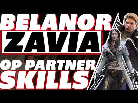 Zavia + Belanor = DESTRUCTION! Partner abilites Raid Shadow Legends Belanor and Zavia gameplay