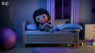 Jenny and friends - Good night - 3d animation short song for kids, HD cartoon 2015