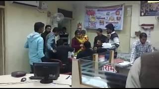 Ratangarh PNB Bank me janta pareshan or staff mana raha madam ka birthday