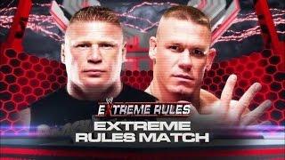 John Cena vs Brock Lesnar Extreme Rules 2012 Highlights