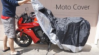 LotFancy: 90 inch Motorcycle Bike Polyester Cover