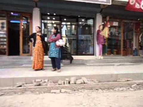Fashionable street in Kathmandu. Nepal 2012