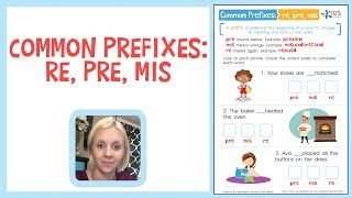 Common Prefixes: RE, PRE, MIS - Building Vocabulary | Kids Academy