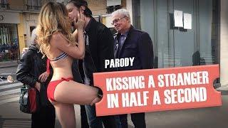 Embrasser une inconnue en une demi-seconde (parodie) / Kissing a girl prank parody