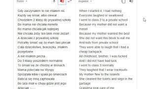 Bedoes - Gustaw [GOOGLE TRANSLATOR EDITION]