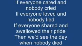 Nickle Back If everyone cared lyrics